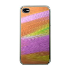 Metallic Brush Strokes Paint Abstract Texture Apple Iphone 4 Case (clear)