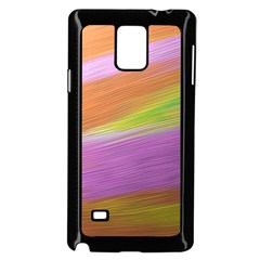 Metallic Brush Strokes Paint Abstract Texture Samsung Galaxy Note 4 Case (black) by Nexatart