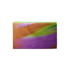 Metallic Brush Strokes Paint Abstract Texture Cosmetic Bag (xs) by Nexatart