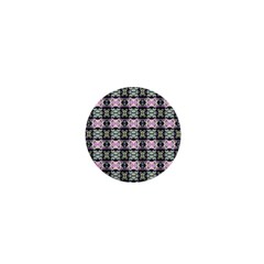 Colorful Pixelation Repeat Pattern 1  Mini Buttons