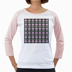Colorful Pixelation Repeat Pattern Girly Raglans by Nexatart