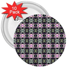 Colorful Pixelation Repeat Pattern 3  Buttons (10 Pack)  by Nexatart