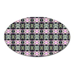 Colorful Pixelation Repeat Pattern Oval Magnet by Nexatart