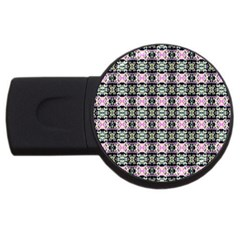 Colorful Pixelation Repeat Pattern Usb Flash Drive Round (2 Gb) by Nexatart