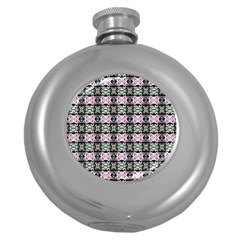 Colorful Pixelation Repeat Pattern Round Hip Flask (5 Oz) by Nexatart