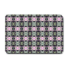 Colorful Pixelation Repeat Pattern Small Doormat  by Nexatart