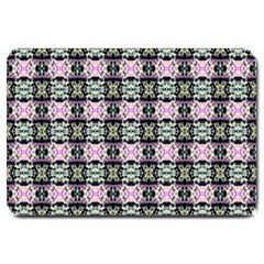 Colorful Pixelation Repeat Pattern Large Doormat  by Nexatart