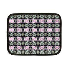 Colorful Pixelation Repeat Pattern Netbook Case (small)  by Nexatart