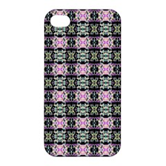 Colorful Pixelation Repeat Pattern Apple Iphone 4/4s Premium Hardshell Case