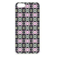 Colorful Pixelation Repeat Pattern Apple Iphone 5 Seamless Case (white) by Nexatart