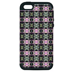 Colorful Pixelation Repeat Pattern Apple Iphone 5 Hardshell Case (pc+silicone) by Nexatart