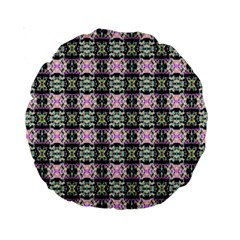 Colorful Pixelation Repeat Pattern Standard 15  Premium Round Cushions by Nexatart