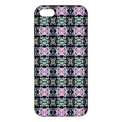 Colorful Pixelation Repeat Pattern Apple Iphone 5 Premium Hardshell Case by Nexatart