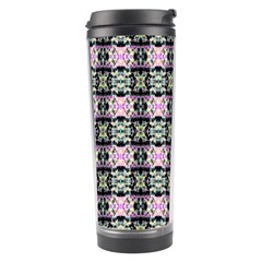 Colorful Pixelation Repeat Pattern Travel Tumbler by Nexatart