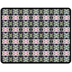 Colorful Pixelation Repeat Pattern Double Sided Fleece Blanket (medium)  by Nexatart