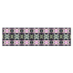 Colorful Pixelation Repeat Pattern Satin Scarf (oblong) by Nexatart