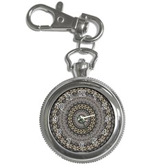 Celestial Pinwheel Of Pattern Texture And Abstract Shapes N Brown Key Chain Watches by Nexatart