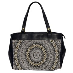 Celestial Pinwheel Of Pattern Texture And Abstract Shapes N Brown Office Handbags (2 Sides)  by Nexatart