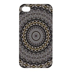 Celestial Pinwheel Of Pattern Texture And Abstract Shapes N Brown Apple Iphone 4/4s Premium Hardshell Case