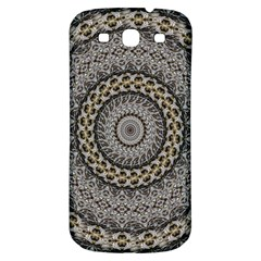 Celestial Pinwheel Of Pattern Texture And Abstract Shapes N Brown Samsung Galaxy S3 S Iii Classic Hardshell Back Case by Nexatart