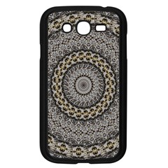 Celestial Pinwheel Of Pattern Texture And Abstract Shapes N Brown Samsung Galaxy Grand Duos I9082 Case (black)
