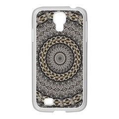 Celestial Pinwheel Of Pattern Texture And Abstract Shapes N Brown Samsung Galaxy S4 I9500/ I9505 Case (white) by Nexatart