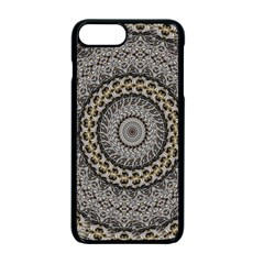 Celestial Pinwheel Of Pattern Texture And Abstract Shapes N Brown Apple Iphone 7 Plus Seamless Case (black) by Nexatart