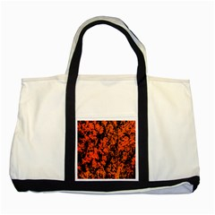 Abstract Orange Background Two Tone Tote Bag by Nexatart