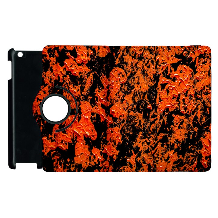 Abstract Orange Background Apple iPad 2 Flip 360 Case