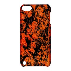 Abstract Orange Background Apple Ipod Touch 5 Hardshell Case With Stand by Nexatart