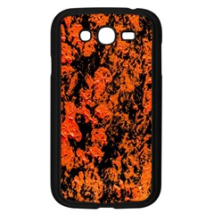 Abstract Orange Background Samsung Galaxy Grand Duos I9082 Case (black) by Nexatart