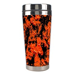 Abstract Orange Background Stainless Steel Travel Tumblers by Nexatart