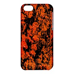 Abstract Orange Background Apple Iphone 5c Hardshell Case by Nexatart