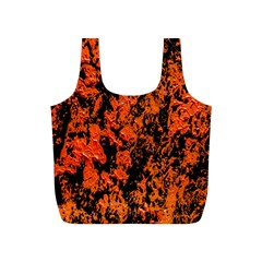 Abstract Orange Background Full Print Recycle Bags (s)  by Nexatart