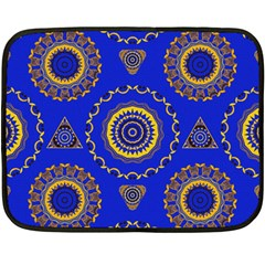 Abstract Mandala Seamless Pattern Fleece Blanket (mini) by Nexatart
