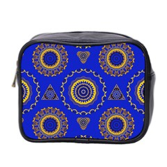 Abstract Mandala Seamless Pattern Mini Toiletries Bag 2 Side by Nexatart