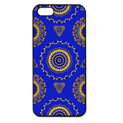 Abstract Mandala Seamless Pattern Apple Iphone 5 Seamless Case (black) by Nexatart