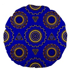 Abstract Mandala Seamless Pattern Large 18  Premium Flano Round Cushions by Nexatart