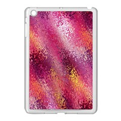 Red Seamless Abstract Background Apple Ipad Mini Case (white) by Nexatart