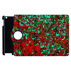 Red Turquoise Abstract Background Apple Ipad 2 Flip 360 Case by Nexatart