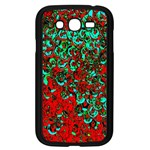 Red Turquoise Abstract Background Samsung Galaxy Grand DUOS I9082 Case (Black) Front