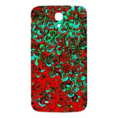 Red Turquoise Abstract Background Samsung Galaxy Mega I9200 Hardshell Back Case