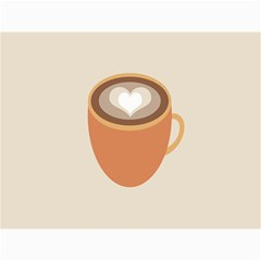 Artin Coffee Chocolate Brown Heart Love Canvas 36  X 48   by Mariart