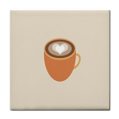 Artin Coffee Chocolate Brown Heart Love Face Towel by Mariart