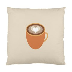 Artin Coffee Chocolate Brown Heart Love Standard Cushion Case (two Sides) by Mariart