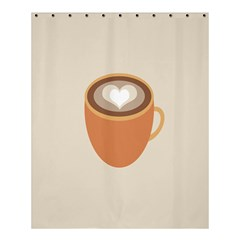 Artin Coffee Chocolate Brown Heart Love Shower Curtain 60  X 72  (medium)  by Mariart