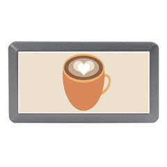 Artin Coffee Chocolate Brown Heart Love Memory Card Reader (mini) by Mariart