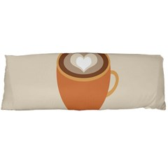 Artin Coffee Chocolate Brown Heart Love Body Pillow Case Dakimakura (two Sides) by Mariart