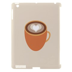 Artin Coffee Chocolate Brown Heart Love Apple Ipad 3/4 Hardshell Case (compatible With Smart Cover) by Mariart