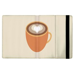 Artin Coffee Chocolate Brown Heart Love Apple Ipad 2 Flip Case by Mariart